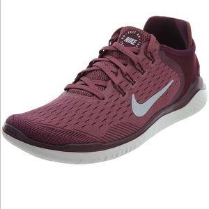 Nike Free Run RN 2018 Running Boardeaux Grey 9.5